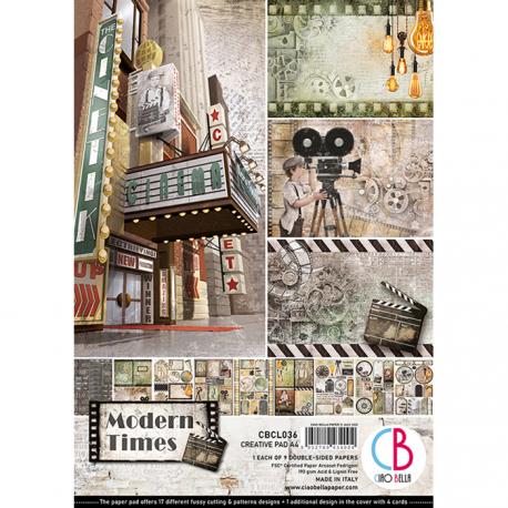 Set 9 hojas de Etiquetas Ciao Bella Modern Times