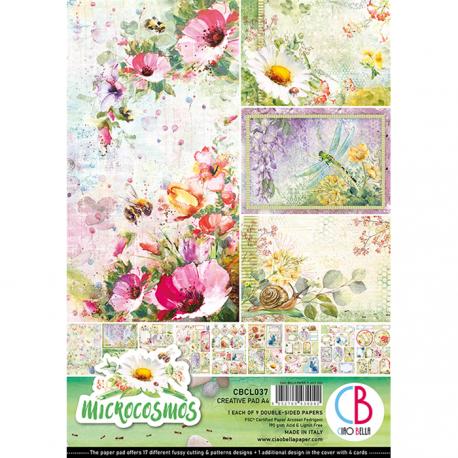 Set 9 hojas de Etiquetas Ciao Bella Microcosmos