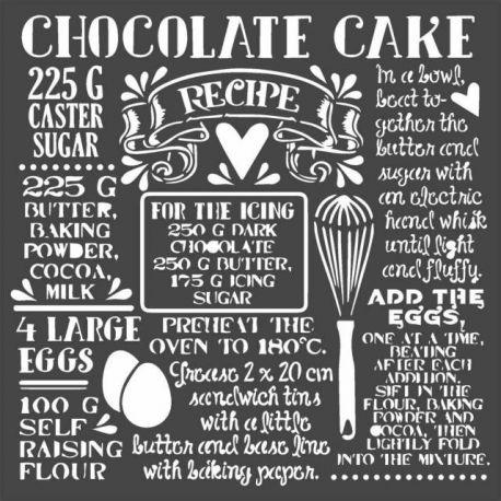 Stencil Stamperia 18x18cm y 0.5mm de espesor Tarta Chocolate