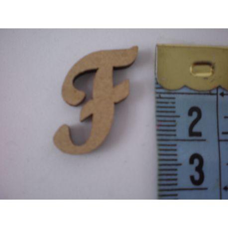 """Letra adhesiva de DM mayúscula """"F"""" 22mm"""