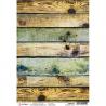 """Papel de Arroz texturizado A4 Piuma - """"Industrial Wood"""""""