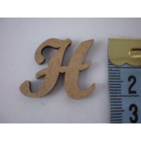 "Letra adhesiva de DM mayúscula ""H"" 22mm"