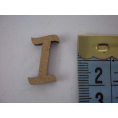 """Letra adhesiva de DM mayúscula """"I"""" 22mm"""