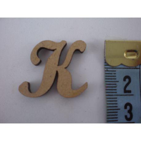 "Letra adhesiva de DM mayúscula ""K"" 22mm"