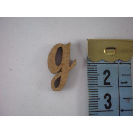 """Letra adhesiva de DM minúscula """"g"""" 14m"""