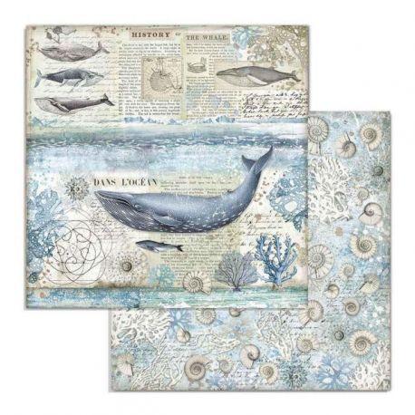 Papel de Scrap Stamperia Whale