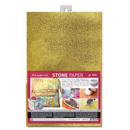 Stone Paper Stamperia A4 Oro