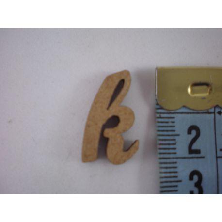 """Letra adhesiva de DM minúscula """"k"""" 14mm"""