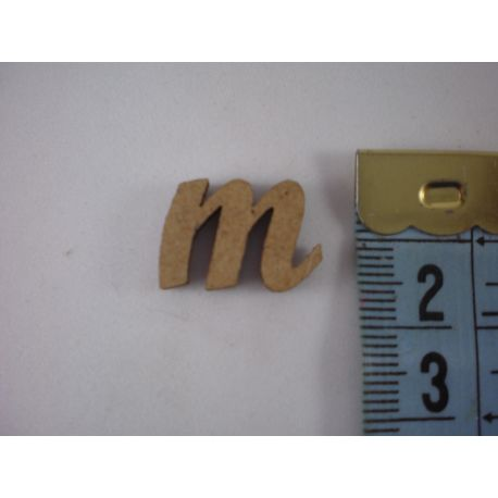"""Letra adhesiva de DM minúscula """"m"""" 14mm"""