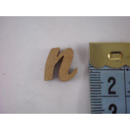 """Letra adhesiva de DM minúscula """"n"""" 14mm"""