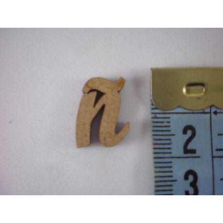 """Letra adhesiva de DM minúscula """"ñ"""" 14mm"""