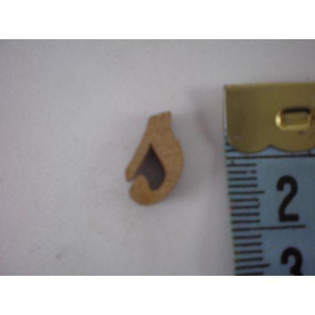 """Letra adhesiva de DM minúscula """"s"""" 14mm"""