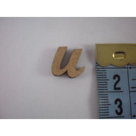 """Letra adhesiva de DM minúscula """"u"""" 14mm"""