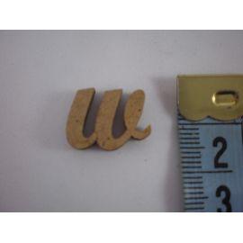 """Letra adhesiva de DM minúscula """"w"""" 14mm"""