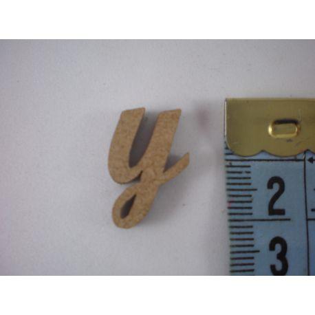 """Letra adhesiva de DM minúscula """"y"""" 14mm"""