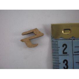 "Letra adhesiva de DM minúscula ""z"" 14mm"