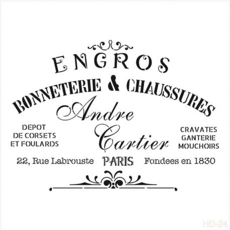 Stencil Cadence Andre Cartier 25x25cm