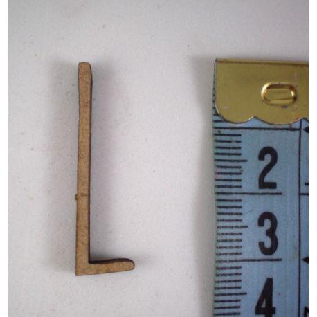 Letras de madera de DM para decorar 3cm  L