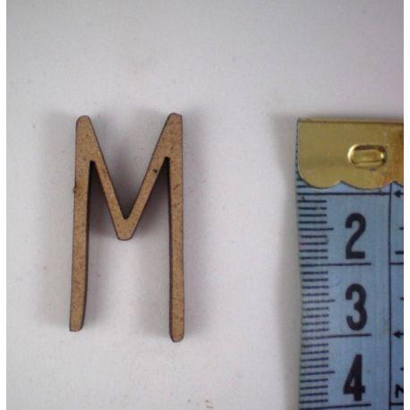 Letras de madera de DM para decorar 3cm  M