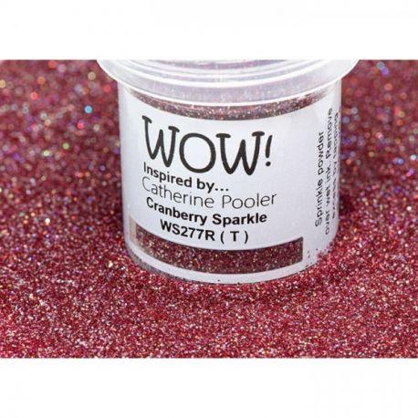 WOW! Polvo de embossing Cranberry Sparkle 15 ml.