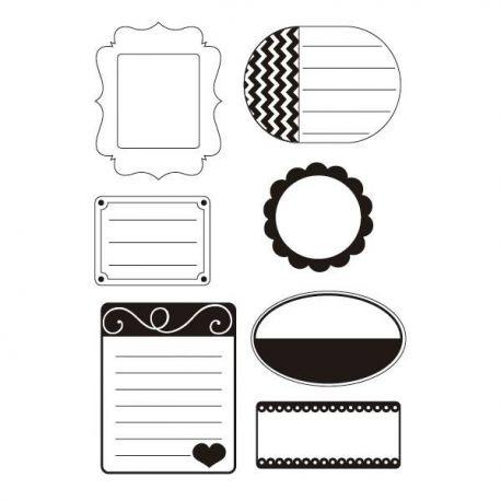Sellos de silicona motivos etiquetas journaling