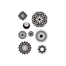 Sellos de silicona motivos Rosetas (1)