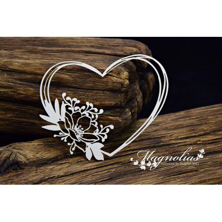 Magnolias - Magnolia Heart 2 10x7,8cm