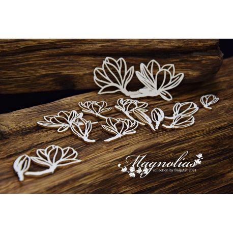 Magnolias – Openwork Magnolias – small set