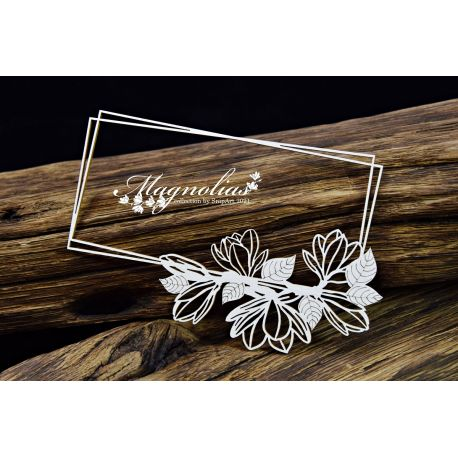 Magnolias – Long Frame – rectangle