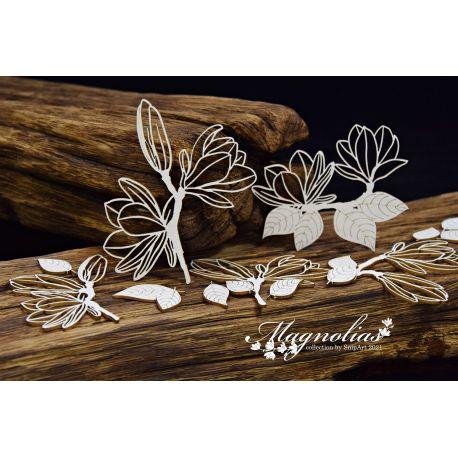 Magnolias – Openwork Magnolias – large set