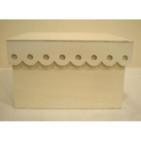 Caja de madera con ondas de 18cm