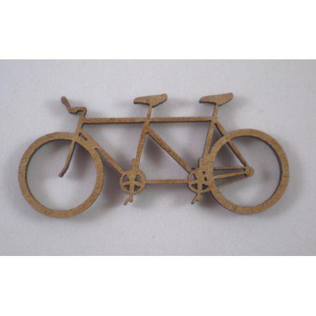 Silueta bicicleta tándem