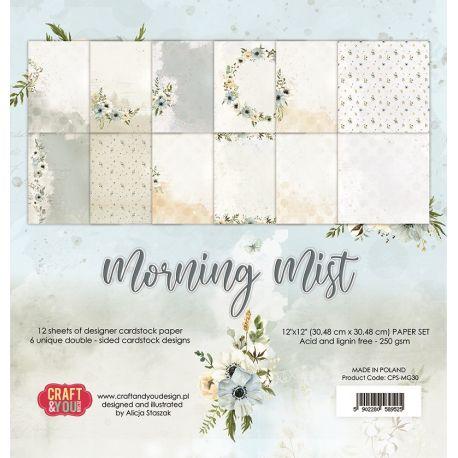 "Colección Morning Mist  12""x12"" - Set 12 papeles"