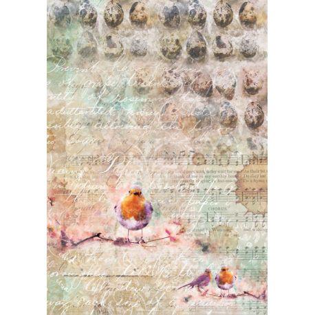Papel de arroz A4 BLOOMING GRUNGE 02 - Craft & You Design