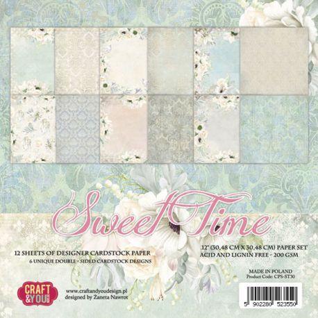 "Colección Sweet Time 12""x12"" - Set 12 papeles"