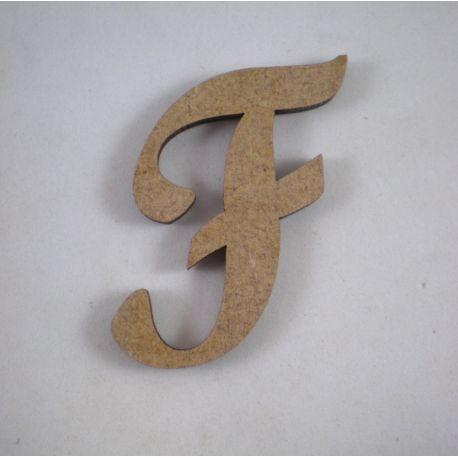 "Letra adhesiva clasica de DM mayúscula ""F"""