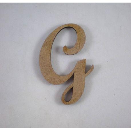 "Letra adhesiva clasica de DM mayúscula ""G"""