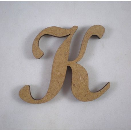 "Letra adhesiva clasica de DM mayúscula ""K"""