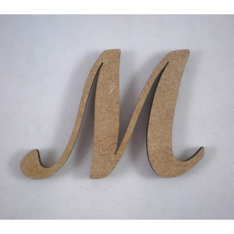 "Letra adhesiva clasica de DM mayúscula ""M"""