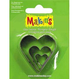 Makin's set de 3 cortadores Corazones