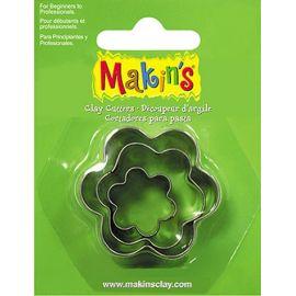 Makin's set de 3 cortadores Flores