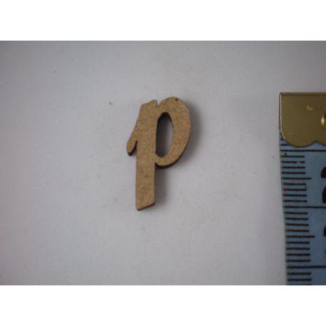 """Letra adhesiva de DM minúscula """"p"""" 14mm"""