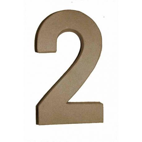"Número de cartón Varios tamaños ""2"""
