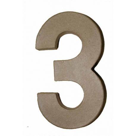 "Número de cartón Varios tamaños ""3"""