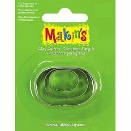 Makin's set de 3 cortadores Ovalados
