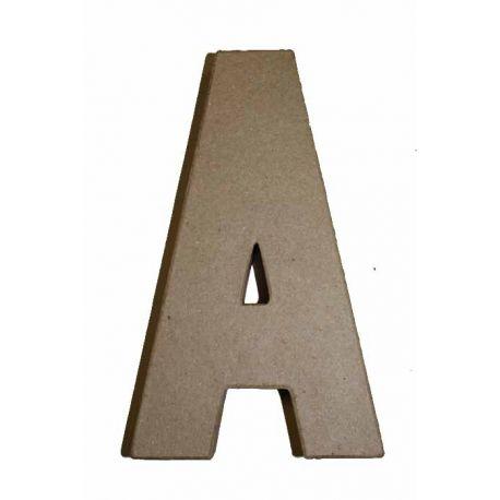 """Letra de cartón 10cm """"A"""""""