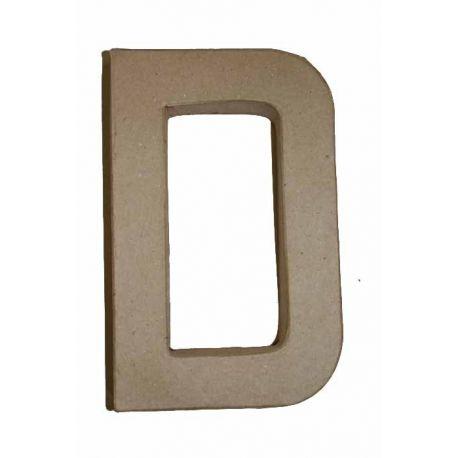 """Letra de cartón 10cm """"D"""""""
