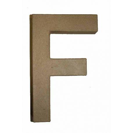 "Letra de cartón 10cm ""F"""