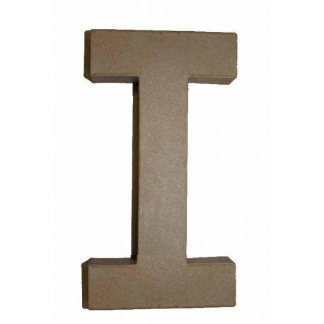 """Letra de cartón 10cm """"I"""""""