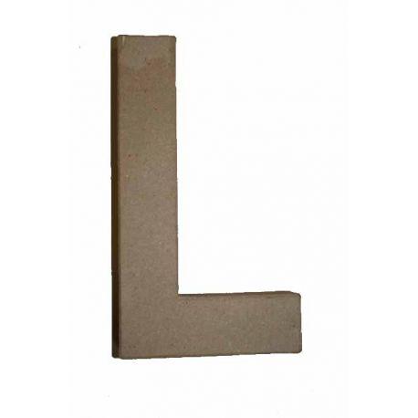 "Letra de cartón 10cm ""L"""